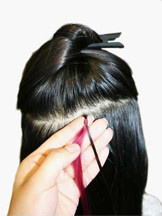 How to Apply Micro Loop Hair Extensions,Step Four