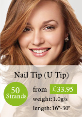 50 stands nail tips hair extensions