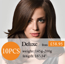 10pcs clip in hair extensions