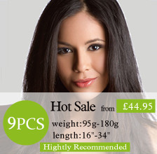 9pcs clip in hair extensions